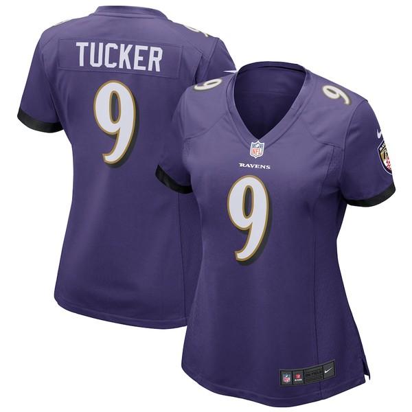 ナイキ レディース シャツ トップス Justin Tucker Baltimore Ravens Nike Women's Game Jersey Purple
