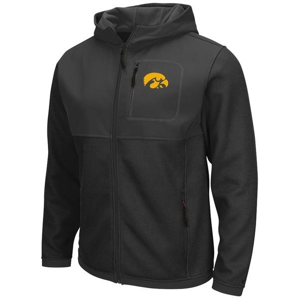 コロシアム メンズ ジャケット&ブルゾン アウター Iowa Hawkeyes Colosseum Miramar Full-Zip Jacket Black/Charcoal