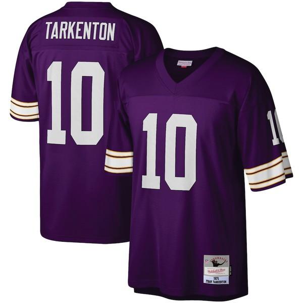 ミッチェル&ネス メンズ シャツ トップス Fran Tarkenton Minnesota Vikings Mitchell & Ness Legacy Replica Jersey Purple