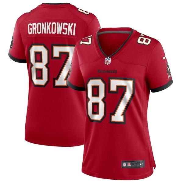 ナイキ レディース シャツ トップス Rob Gronkowski Tampa Bay Buccaneers Nike Women's Game Jersey Red
