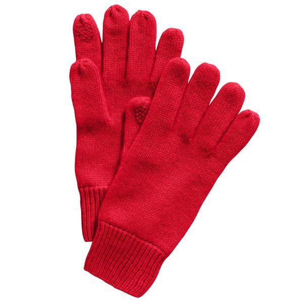 開催中 チャータークラブ レディース アクセサリー 手袋 Red 全商品無料サイズ交換 for Gloves Cashmere 在庫一掃売り切りセール Tech Macy's Created