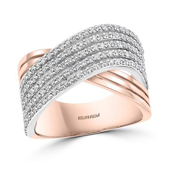 【中古】 エフィー コレクション ct. レディース リング アクセサリー アクセサリー EFFY® White/Rose Diamond Crossover Statement Ring (3/4 ct. t.w.) in 14k Rose & White Gold White/Rose Gold, ダイエイチョウ:d7d532e6 --- unlimitedrobuxgenerator.com