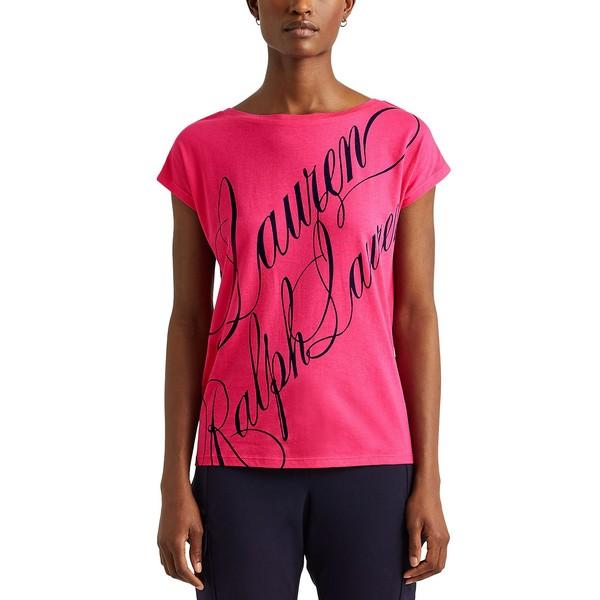 ラルフローレン レディース トップス 大注目 Tシャツ Nouveau Bright 爆買い送料無料 Oversized T-Shirt Boatneck Pink 全商品無料サイズ交換 Petite