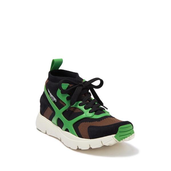 スニーカー メンズ ARMY シューズ Sneaker Mesh Overlay GREEN/NERO/GREE Contrast ヴァレンティノ