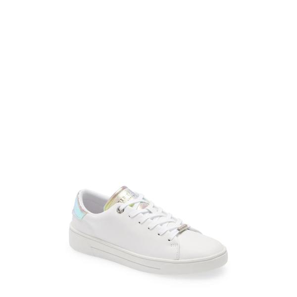 テッドベーカー レディース スニーカー シューズ Zenno Sneaker White Leather