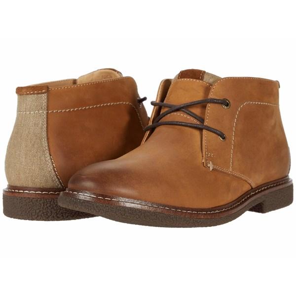 ラッキーブランド メンズ ブーツ&レインブーツ シューズ Boone Saddle Tan Snuffed Leather