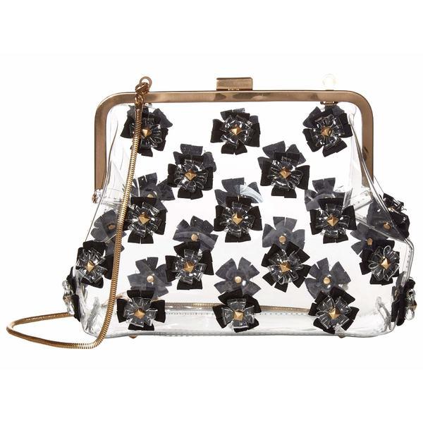 ザックポーゼン レディース ハンドバッグ バッグ Floral Love Frame Clutch - Glass Black