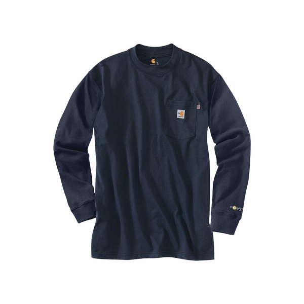 カーハート メンズ シャツ トップス Big & Tall Flame-Resistant Force Cotton Long Sleeve T-Shirt Dark Navy