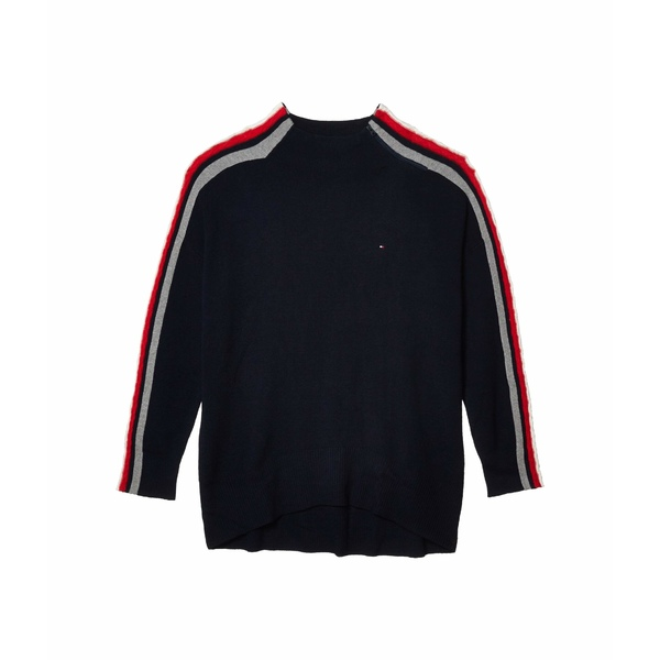 トミーヒルフィガー レディース ニット&セーター アウター Stripe Turtleneck Sweater Masters Navy/Multi