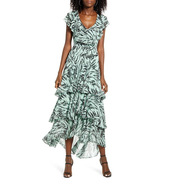 ワイフ レディース ワンピース トップス WAYF Chelsea Tiered Ruffle Maxi Dress (Regular & Plus) Mint Tiger