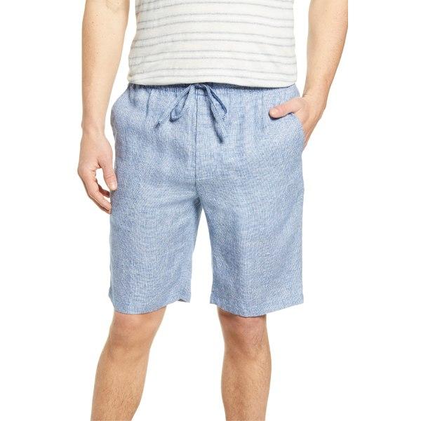 ブガッチ メンズ カジュアルパンツ ボトムス Bugatchi Linen Shorts Navy