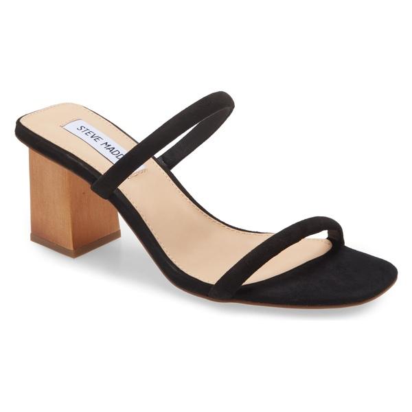 スティーブ マデン レディース サンダル シューズ Steve Madden Honey Slide Sandal (Women) Black