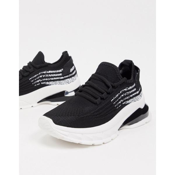 売り出し エイソス レディース シューズ スニーカー Black 全商品無料サイズ交換 ASOS black 2020 新作 sneakers chunky Driven in lace-up DESIGN