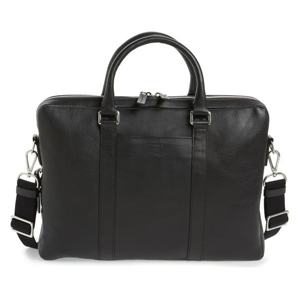 シャイノーラ メンズ ビジネス系 バッグ Shinola Signature Leather Computer Briefcase Black