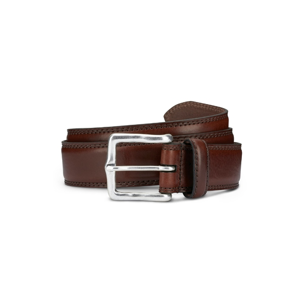 アレン エドモンズ メンズ ベルト アクセサリー Allen Edmonds Wide Street Leather Belt Brown