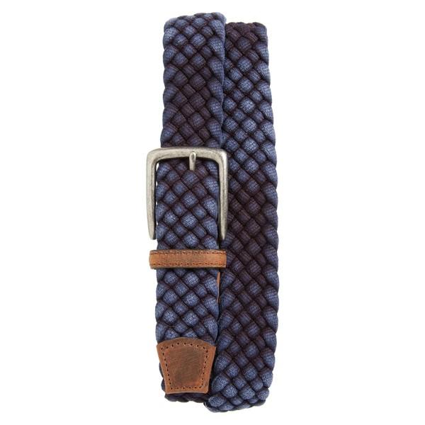 トリノ メンズ ベルト アクセサリー Torino Woven Cotton Belt Navy