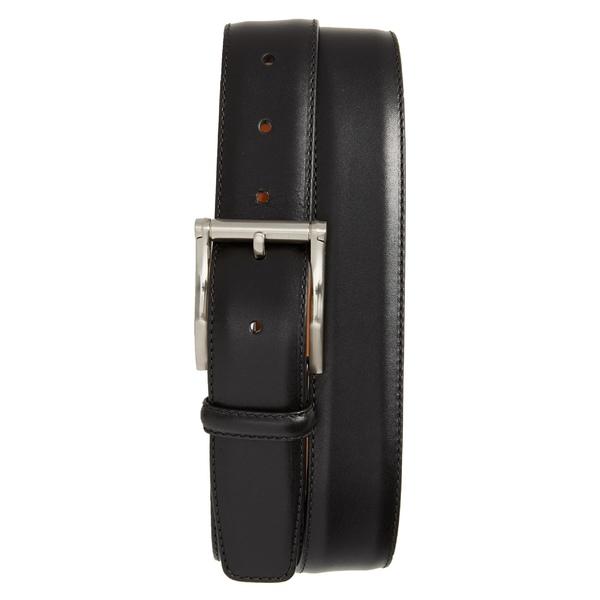 マグナーニ メンズ ベルト アクセサリー Magnanni Carbon Leather Belt Black