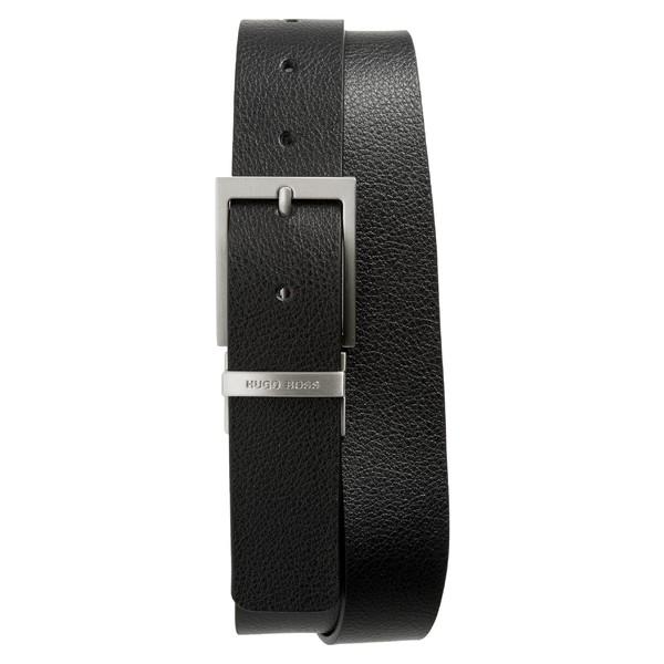 ボス メンズ ベルト アクセサリー BOSS Reming Reversible Leather Belt Black/ Brown
