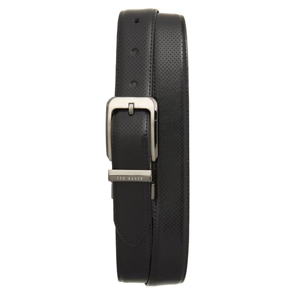 テッドベーカー メンズ ベルト アクセサリー Ted Baker London Hock Reversible Leather Belt Black