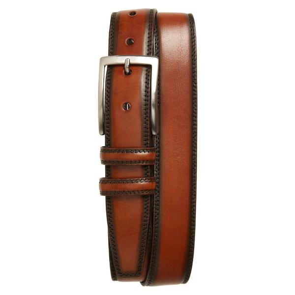 トリノ メンズ ベルト アクセサリー Torino Kipskin Leather Belt Brown