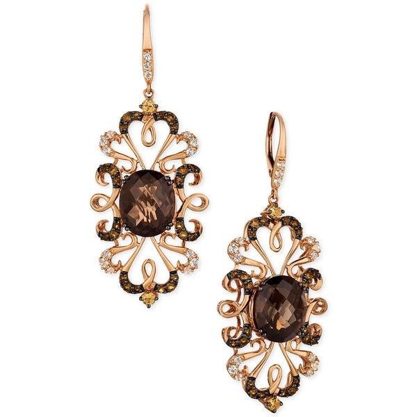 <title>ルヴァン レディース アクセサリー ピアス イヤリング Rose Gold 期間限定送料無料 全商品無料サイズ交換 Crazy Collection® Multi-Gemstone 9-1 4 cttw Drop Earrings in 14k</title>