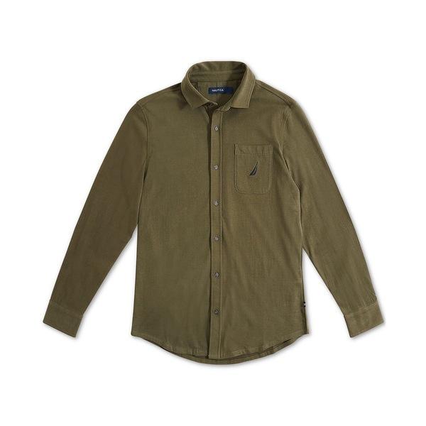 【国内配送】 ナウティカ メンズ シャツ トップス Men's Classic-Fit Shirt Forest Night, 美健WOMAN 7a677785