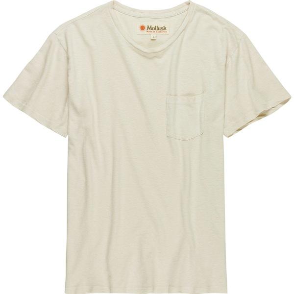 モラスク メンズ Tシャツ トップス Hemp Pocket T-Shirt Natural