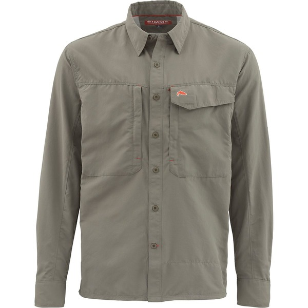 シムズ メンズ シャツ トップス Guide Long-Sleeve Shirt Olive