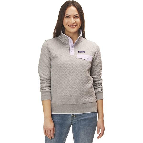 パタゴニア レディース パーカー・スウェットシャツ アウター Organic Cotton Quilt Snap-T Pullover Sweatshirt Drifter Grey/Pipe Purple