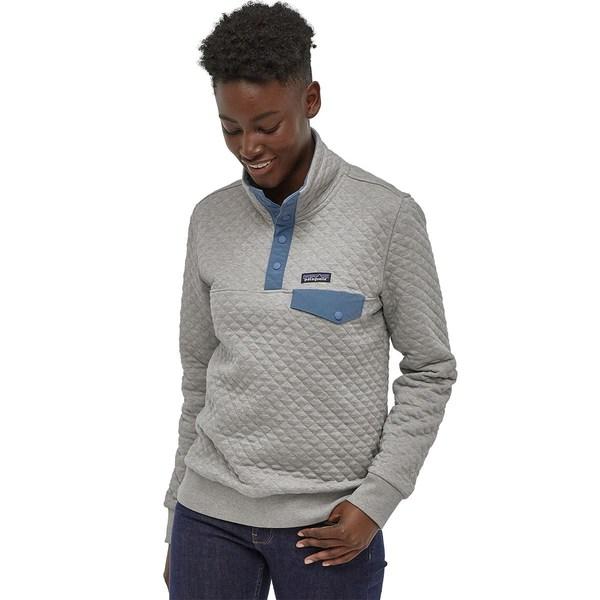 パタゴニア レディース パーカー・スウェットシャツ アウター Organic Cotton Quilt Snap-T Pullover Sweatshirt Drifter Grey/Woolly Blue