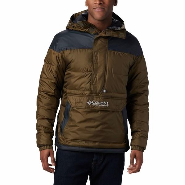 コロンビア メンズ ジャケット&ブルゾン アウター Lodge Pullover Jacket Olive Green/Black
