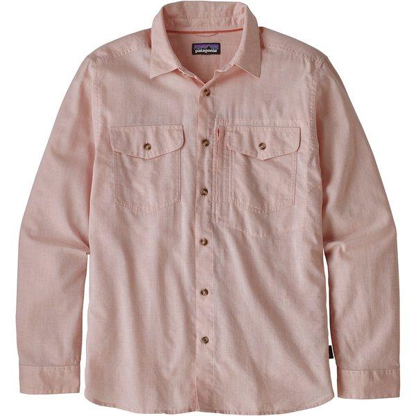 パタゴニア メンズ シャツ トップス Cayo Largo II Long-Sleeve Shirt Chambray/Peach Sherbet