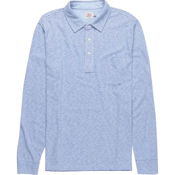 ファエティ メンズ ポロシャツ トップス Polo Long-Sleeve Shirt Madaket Stripe