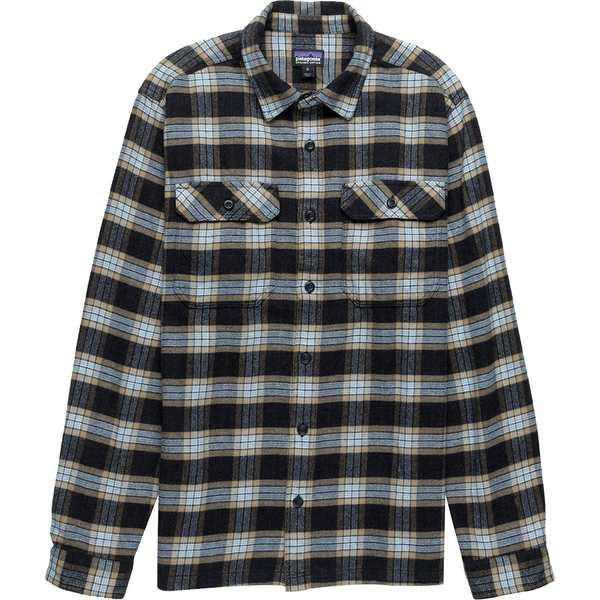 パタゴニア メンズ シャツ トップス Fjord Flannel Shirt Migration Plaid Small/Black