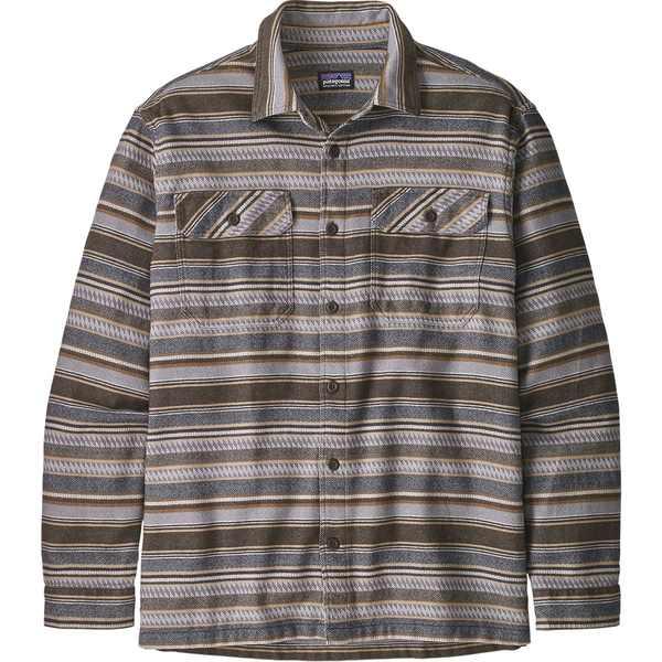 パタゴニア メンズ Brown シャツ トップス Fjord Folk Fjord Flannel Shirt Folk Dobby/Bristle Brown, ドットシティー:93d065c8 --- officewill.xsrv.jp