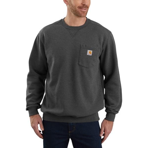 カーハート メンズ シャツ トップス Crewneck Pocket Sweatshirt Carbon Heather