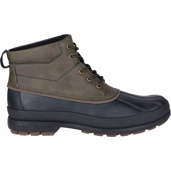 トップサイダー メンズ ブーツ&レインブーツ シューズ Cold Bay Chukka Boot - Men's Olive/Black