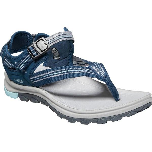 キーン レディース サンダル シューズ Terradora II Toe Post Sandal - Women's Navy/Light Blue