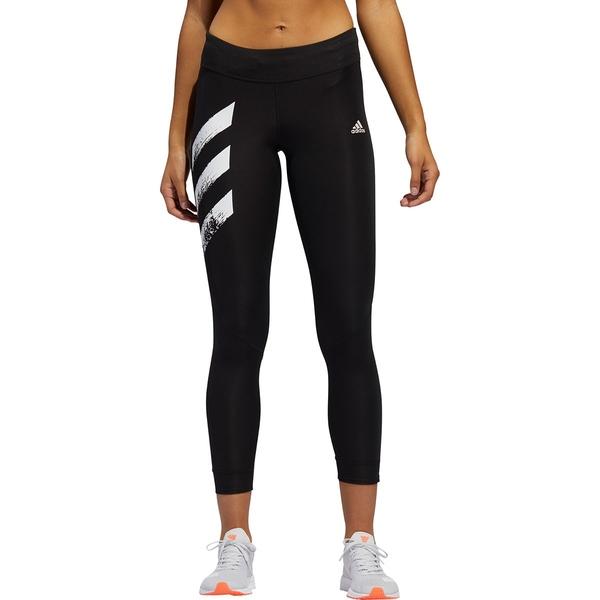 アディダス レディース レギンス ボトムス Own The Run PB 3-Stripes Tight - Women's Black