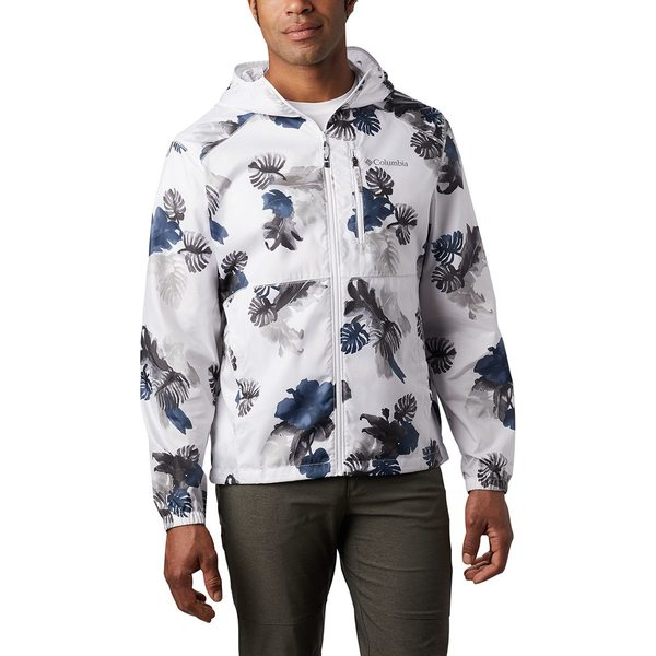 コロンビア メンズ ジャケット&ブルゾン アウター Flash Forward Print Windbreaker - Men's White Tropical N Monsteras