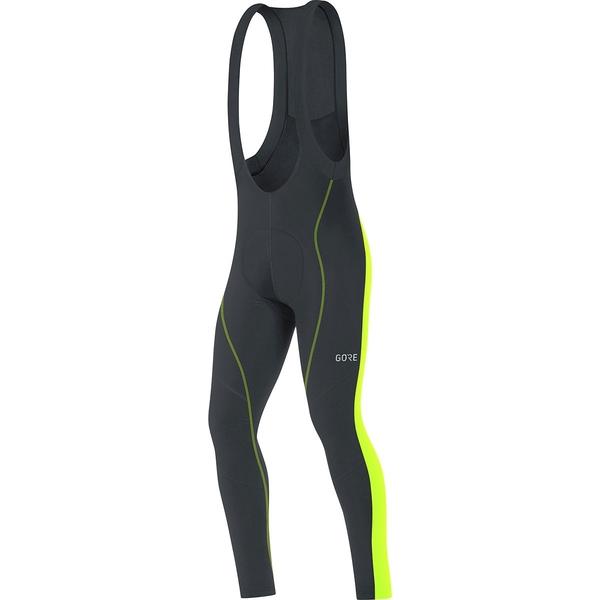 ゴアウェア メンズ サイクリング スポーツ C3 Thermo Bib Tights+ - Men's Black/Neon Yellow