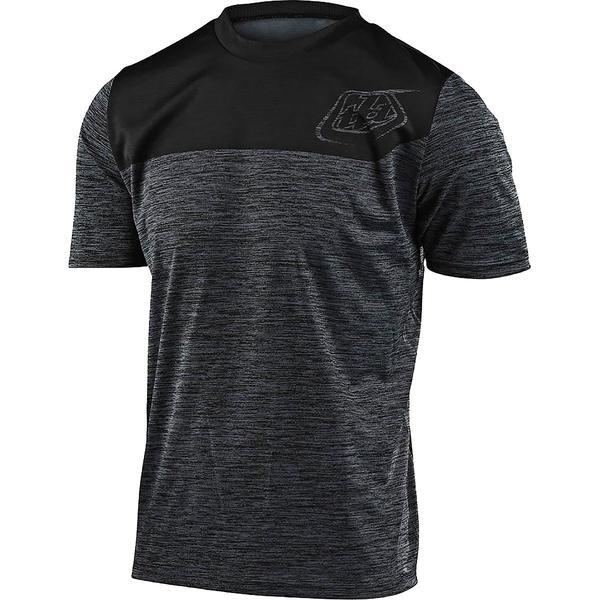 トロイリーデザイン メンズ サイクリング スポーツ Flowline Short-Sleeve Jersey - Men's Heather Black/Black