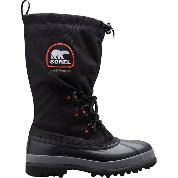 ソレル メンズ ブーツ&レインブーツ シューズ Bear XT Boot - Men's Black/Red Quartz