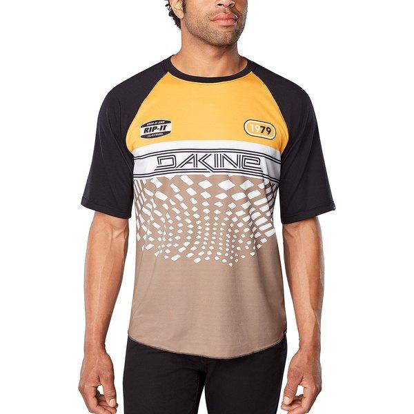 ダカイン メンズ サイクリング スポーツ Dropout Short-Sleeve Jersey - Men's Golden Glow/Stingray