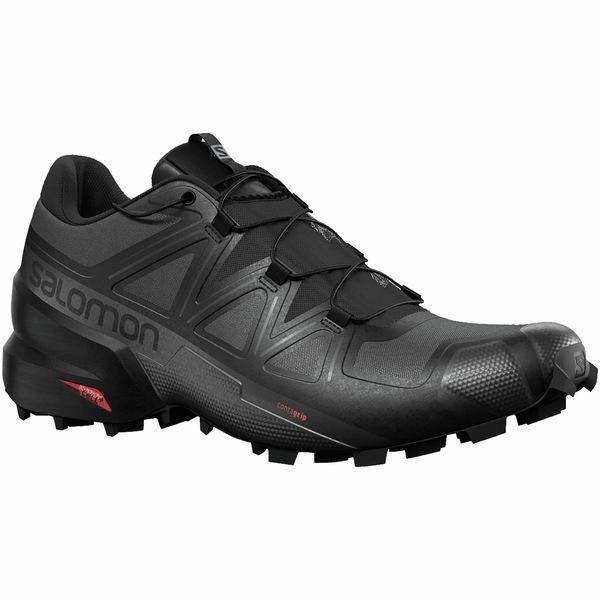 サロモン メンズ スニーカー シューズ Speedcross 5 Trail Running Shoe - Men's Black/Black/Phantom