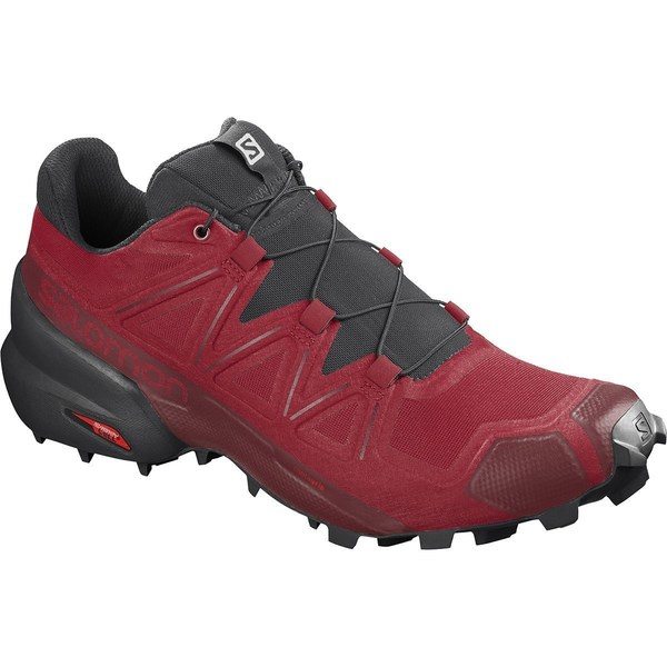 サロモン メンズ スニーカー シューズ Speedcross 5 Trail Running Shoe - Men's Barbados Cherry/Black/Red Dahlia