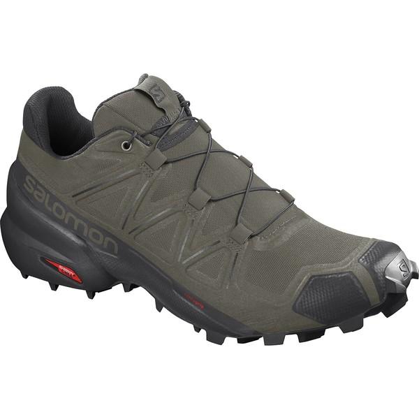 サロモン メンズ スニーカー シューズ Speedcross 5 Trail Running Shoe - Men's Grape Leaf/Black/Phantom