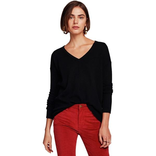 ホワイトプラスウォーレン レディース ニット&セーター アウター Essential V-Neck Sweater - Women's Black