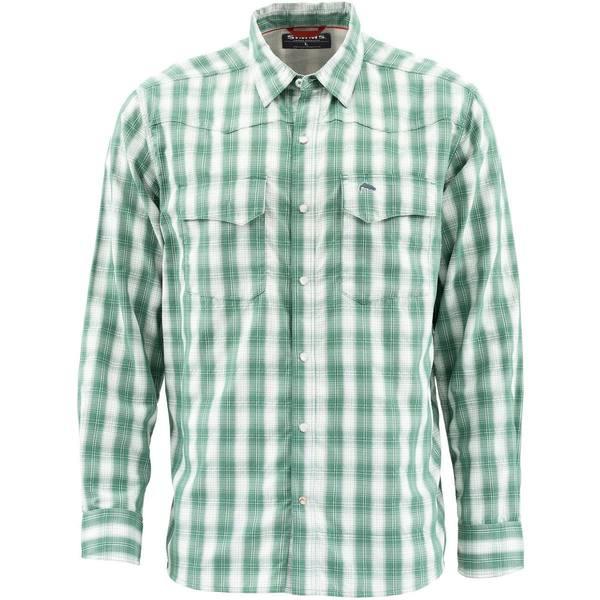 シムズ メンズ シャツ トップス Big Sky Shirt - Men's Evergreen Plaid