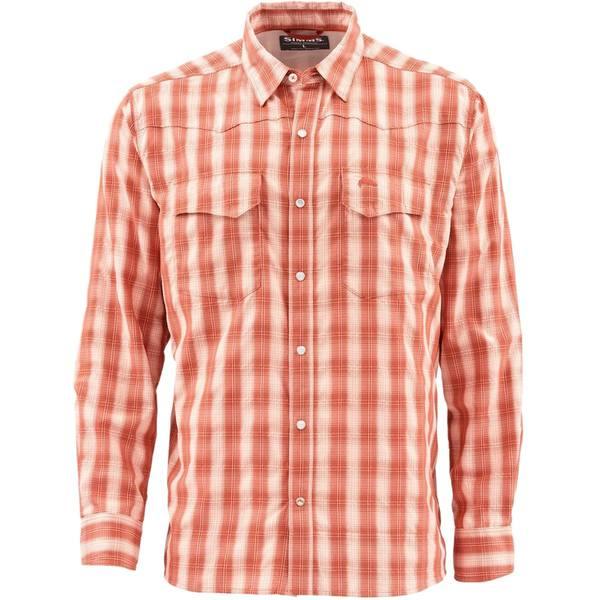 シムズ メンズ シャツ トップス Big Sky Shirt - Men's Simms Orange Plaid